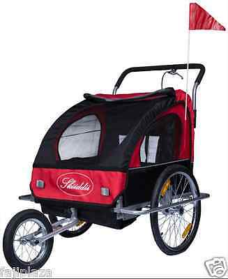 Skiiddii's Suspension New Bicycle Bike TRAILER Child Stroller Pram Jogger