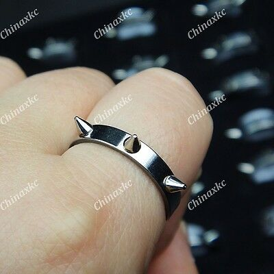 New 10pcs Wholesale Jewelry Lots Stainless steel Rivet Self-defense Cool Rings