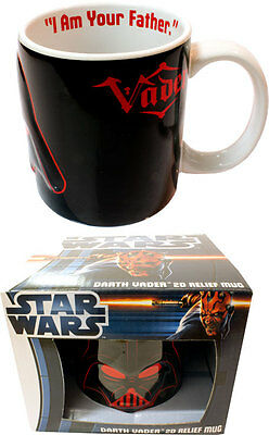 Star Wars: Darth Vader 2D Relief Ceramic Mug - New & Official In Picture Box