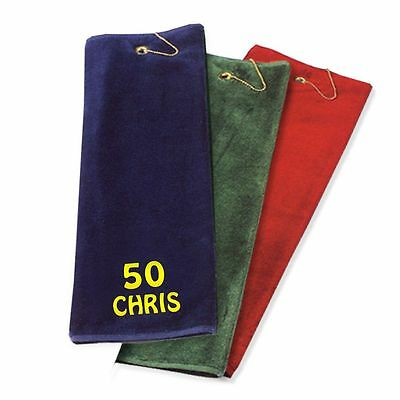 Best Impressions Personalised Luxury Tri-Fold Golf Towel Different Options