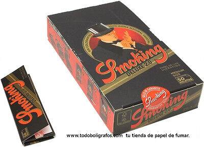 25 libritos de papel de fumar Smoking de luxe.  Rolling paper cartine.