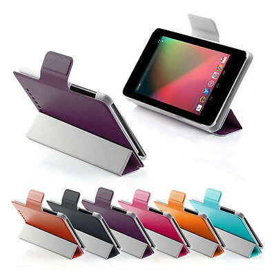 Ultra Slim Smart Leather Case Cover for Asus Google Nexus 7 Tablet +SP & Stylus