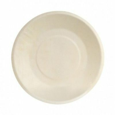 10 x Disposable Plate with Wide Rim, Biowood, Catering & Functions, 220mm