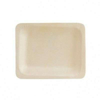 10 x Disposable Plate Rectangular, Biowood, Catering & Functions, 120 x 90mm