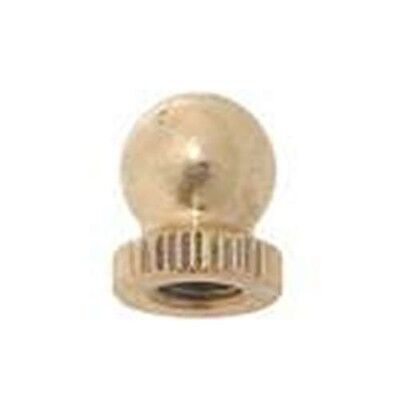 10958 Small Turned Brass Knob Lamp Finial, 1/4-27F Base