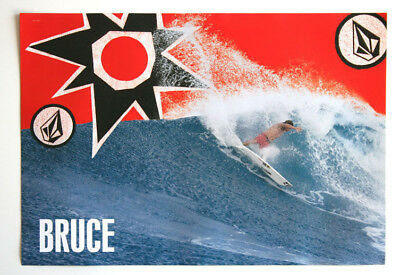 """Volcom BRUCE IRONS Surf Poster 26"""" x 18""""Dusty Payne NEW"""