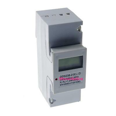 5(65A) 220VAC 60Hz Single Phase DIN-rail Kilowatt LCD Hour kwh Meter CE Proved