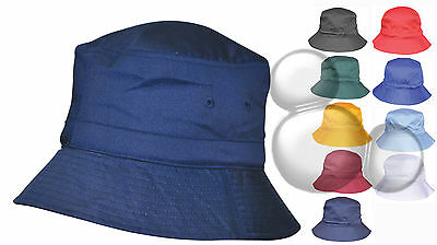 Bucket Hat  Kids & Adults Adjustable Toggle School Cap