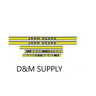 To fit John Deere 4640 tractor decal set