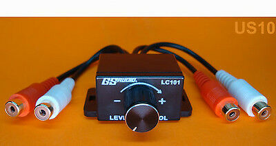 NEW CAR AUDIO AMP AMPLIFIER REMOTE LEVEL RCA CONTROL BASS BOOST KNOB US SELLER
