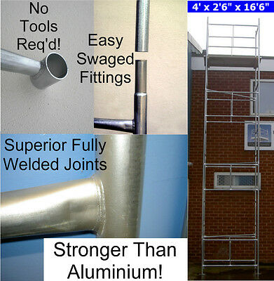 "DIY Scaffold Tower 6.9m (4' x 2'6"" x 22'0"" WH) Galvanised Steel"