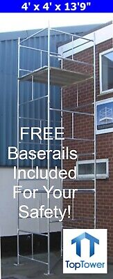 "DIY Scaffold Tower 6m (4' x 4' x 19'9"" WH) Galvanised Steel"