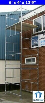 "DIY Scaffold Towers 6.3m (6' x 4' x 20'9"" Working Ht) Galvanised Steel Tower"