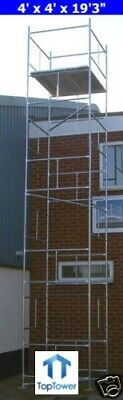 "DIY Scaffold Towers 8.0m (4' x 4' x 26'3"" (Working Ht) Galvanised Steel Tower"