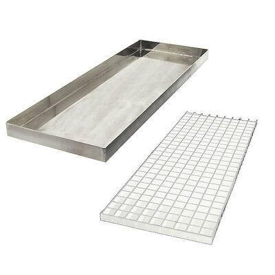 """23 7/8"""" Countertop Drip Tray - Stainless Steel - No Drain - Bar Draft Beer Spill"""