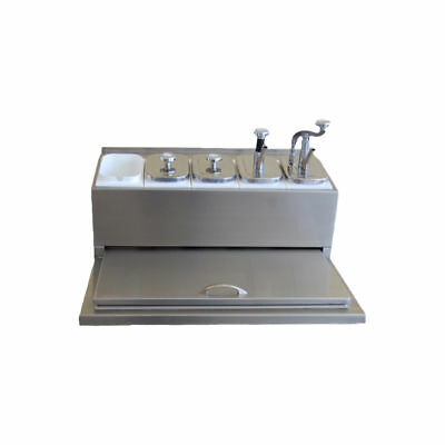 Ice Cream Fountainette Flavor Rail Dispenser With Lid - Concession Supplies