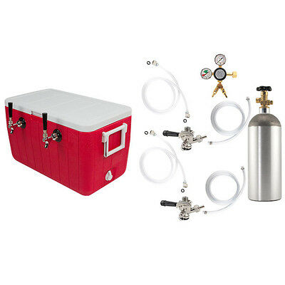 Double Faucet Coil Cooler Complete Kit - Draft Beer Dispensing Picnic Jockey Box