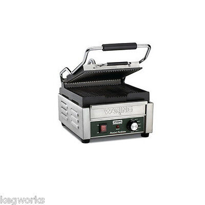 Waring Panini Grill - Sandwich Maker - Ribbed Toaster - Restaurant & Concession