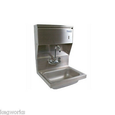 Wall Mount Hand Sink w/Towel Dispenser -Stainless Steel