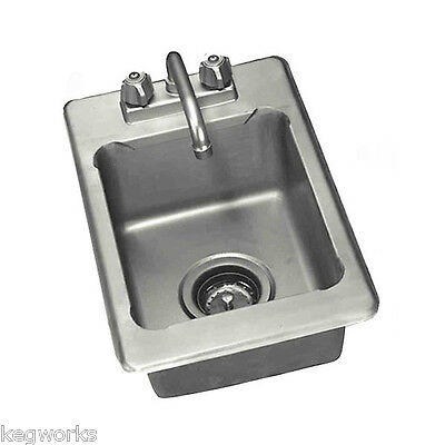 "Drop In Bar Sink - 3 1/2"" Drain Basket Stainless Steel"