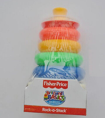 colorful roly-poly fisher-price Rock-A-Stack brilliant basics cognition toy