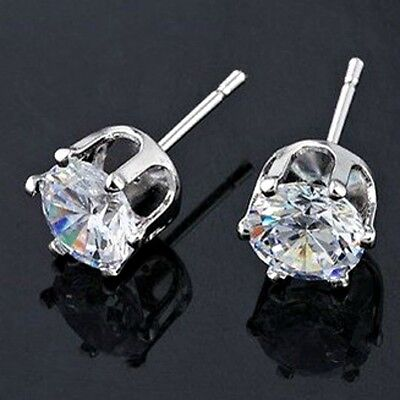 316L Surgical Stainless Steel ROUND CZ STUD EARRINGS – 3 to 10 mm -w/ Gift Pouch