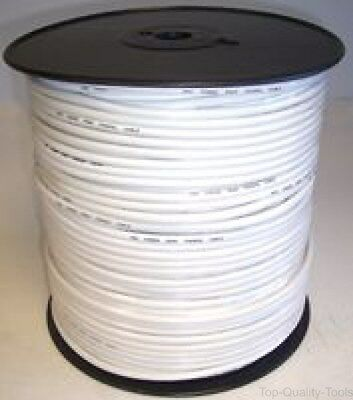 RG6U COAXIAL CABLE WHITE AL BRAID 100M - Part Number RG6UALWHT