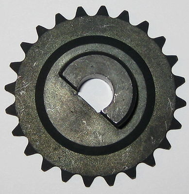 "#25 Chain Sprocket Gear - 2"" OD - 10 mm ID for D-Type Flatted Shaft - 24 Teeth"