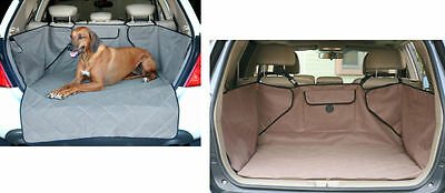 Tan or gray uni-fit Quilted Cargo area Cover pet dog barrier van suv waterproof