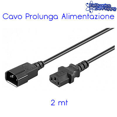 Cavo Prolunga Di Alimentazione Vde Maschio-Femmina Pc Monitor Tv 1,5M Cable705