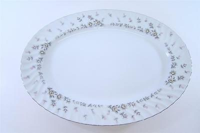 """Style House Fine China Picardy Platinum Oval Serving Platter 14 3/4"""""""