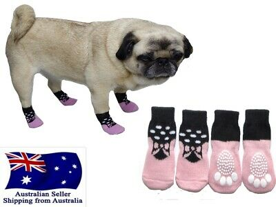 Dog Socks Non-Slip Pink S M L XL  - Pet  Puppy Cat Clothes Floor Paw Protection