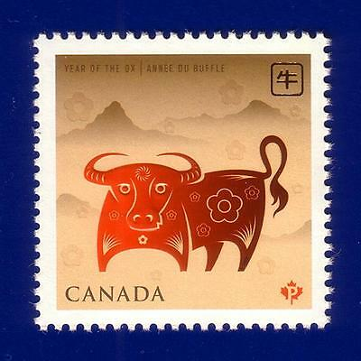 Canada 2009 Year of the Ox Stamp (#2296) MNH !