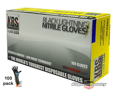 Nitrile Heavy Duty Protective Gloves Garden Spraying Painting Poison LARGE x100