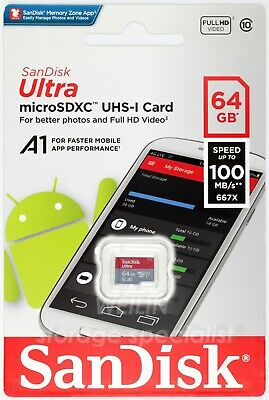 SanDisk Ultra 64 GB micro SDXC Memory Card Class 10 UHS-I 100MB/s 64G TF extreme