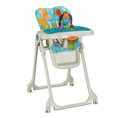 BRAND NEW! Fisher-Price Precious Planet Sky Blue High Chair - Machine Washable
