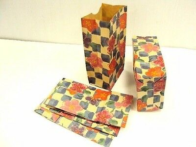 """150 Paper Merchandise Gift Jewelry Candy Party Goody Treat Bag Floral Check 4x8"""""""