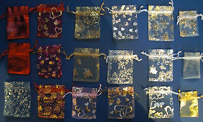 Organza Bags for weddings, christmas, xmas , favours, gifts, jewellery items