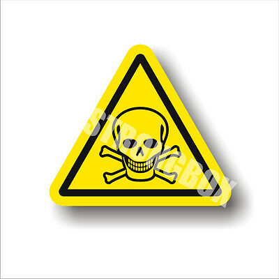 Industrial Safety Decal Sticker caution POISON - TOXIC WARNING label