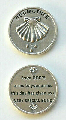 (2) GODMOTHER Silver Tone Pocket Tokens  -Italy-