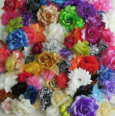 25PCS Mixed Lots Assorted Color Type Cute Prima Fabric Flowers Collection 37331