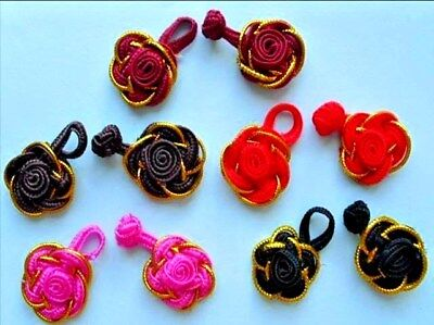 1 Set of Chinese Frogs Buttons  5 pairs Applique Mix Craft Girl CF10