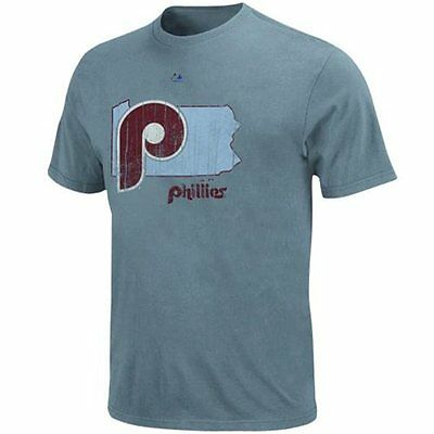 MLB Baseball T-Shirt PHILADELPHIA PHILLIES -Cooperstown Double Lead Pigment Dyed