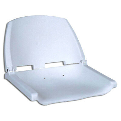 Fold Down Deluxe Marine White Seat For Boat - Fishing - Five Oceans