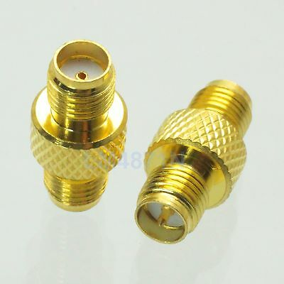 1pc Adapter RP.SMA female plug to SMA female jack connector straight reticulated