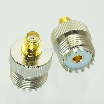 1pce Adapter SO239 UHF female jack to SMA female RF connector straight