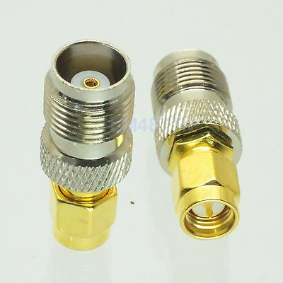 1pce Adapter TNC jack female to SMA plug male RF connector straight