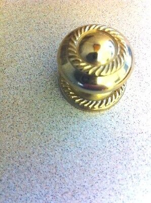 "B-3113 Solid Brass 1"" Knob And Backplate Rope Design"