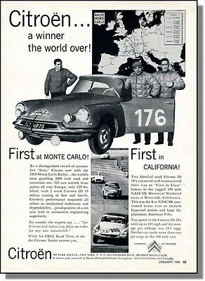 1960 Citroen Automobile Rally Wins World Wide, Print-Ad
