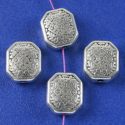 10pcs dark silver tone Disk spacer beads h3117